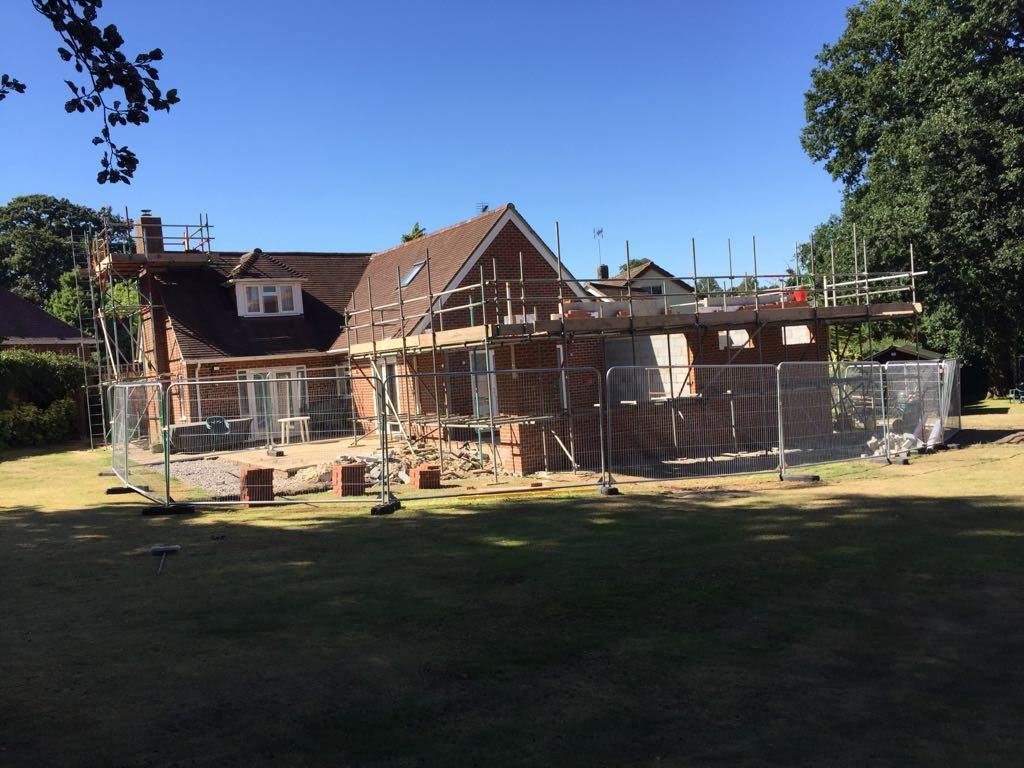 Scaffolding in new forest area by Solent Scaffolding