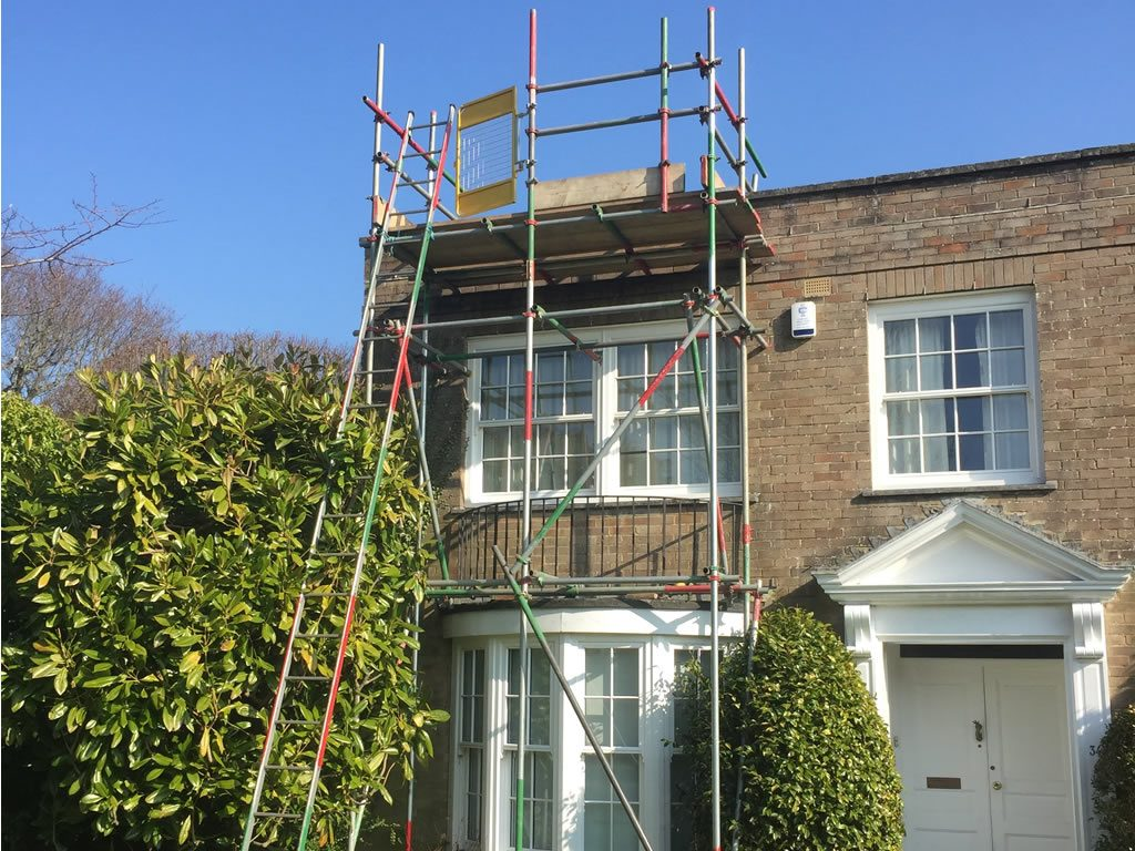 Solent scaffolding on house